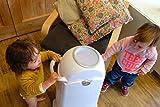 Geruchsdichter Windeleimer Diaper Champ regular silber – für normale Müllbeutel - 5