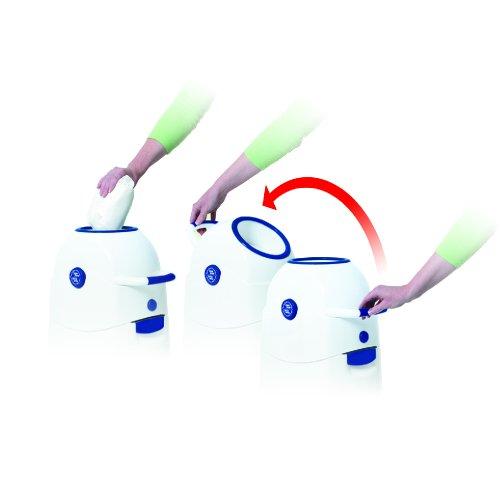 Geruchsdichter Windeleimer Diaper Champ regular silber - für normale Müllbeutel - 2